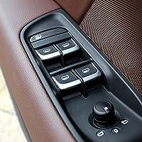 7x Set cromo ABS porta interno per auto styling Alzacristallo copertura decorazioni | di commutazione per for Audi A1A38V A6C7Q3Q5