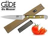 Güde Alpha Olive Messer Kochmesser Santoku Brotmesser Schälmesser Schinkenmesser Chai Dao ohne/mit Gravur + Prymo Farbe 1 Messer OHNE Gravur, Größe Spickmesser 10cm
