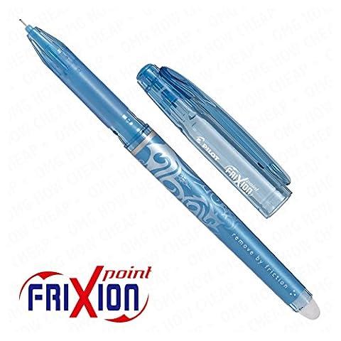 Frixion Point–Ultra Fine Stylo roller encre effaçable–Boîte de 12–Bleu clair