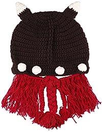 Amurleopard Bonnet tricot tresse homme femme chapeau unisexe hiver chaud Cafe taille unique