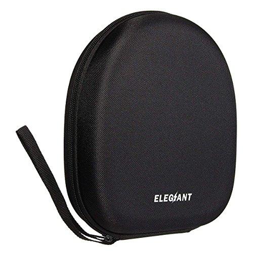 ELEGIANT Headset Schutztasche Kopfhörer Schutztasche Tasche Ohrhörer Tragetasche Aufbewahrungstasche Fallbeutel Headphone Earphone Case Box mit Karabiner für Sony V55 NC6 NC7 NC8 usw (21cm x 18.5cm x 6cm)