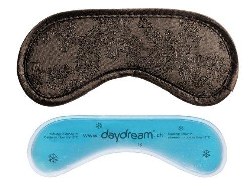 """daydream Premium-Schlafmaske """"Paisley"""" mit Kühlkissen, braun (A-1008)"""