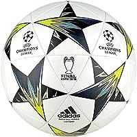 Adidas Finale Kiev, Palla Uomo, Bianco/Nero/Solar Yellow/Blu /Clear Aqua/Orange, 5