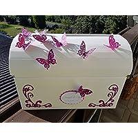 Briefbox Truhe SCHMETTERLING BEERE Hochzeit Kartenbox Geschenkbox Erinnerung
