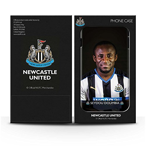 Offiziell Newcastle United FC Hülle / Glanz Snap-On Case für Apple iPhone SE / Lascelles Muster / NUFC Fussballspieler 15/16 Kollektion Doumbia
