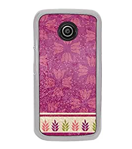 Fuson Designer Back Case Cover for Motorola Moto E2 :: Motorola Moto E Dual SIM (2nd Gen) :: Motorola Moto E 2nd Gen 3G XT1506 :: Motorola Moto E 2nd Gen 4G XT1521 (Flowery lotus design wallpaper frame leaf)