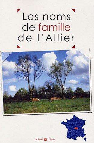 Les noms de famille de l'Allier