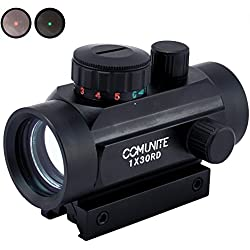 Comunite 1XRD30 Rouge / Vert Dot Scope Holographique Tactical Image avec pont de montage Picatinny Intégrale