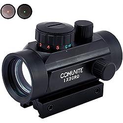 Comunite 1XRD30 Rouge / Vert Dot Scope Holographique Tactical Image avec pont de montage Picatinny Intégrale