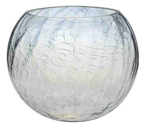 NEW CRACKLE CRACKED GLASS FISH BOWLS WEDDING TABLE CENTREPIECE HOME DECOR 10CM 15CM 20CM OR 25CM (10, 25cm)