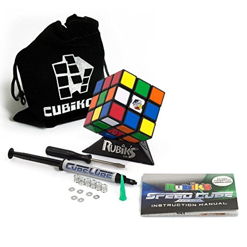 Original Rubik's Speed Cube Pro-Pack PLUS - Zauberwürfel Komplett-Set inkl. Schmiermittel + Justier-Equipment + Cubikon-Tasche