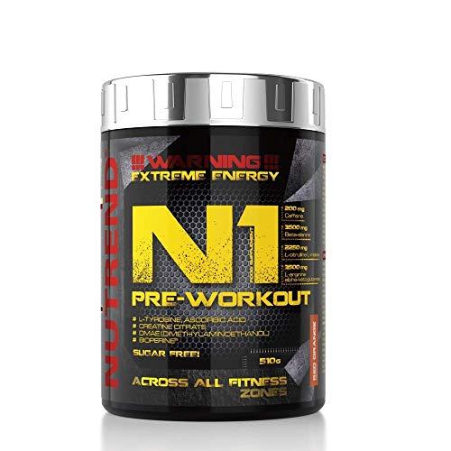 NUTREND N1 Pre Workout red orange, 510 g