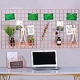 Rumcent Multifunktions-Metall Mesh-Gitter, Wand-Dekor / Foto Wand / Wand Kunst Display & Organizer, Packung mit 2 Stück, Größe: 23,6