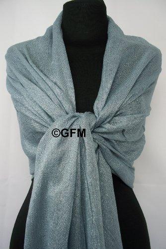 GFM Fastglas Foulard doux Shawl. Strass Soiree Mariage, demoiselles d'honneur Argenté - z **Seconds** Silver Grey (#CHBH-0)