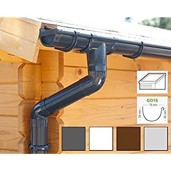 Plastic Guttering Kit For Shed Roof 1 Roofside Gd16