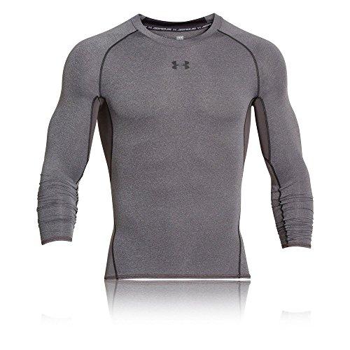 Under Armour Herren HeatGear Armour Unterhemd, Grau carbon heather, Gr. XL Herstellergröße XL