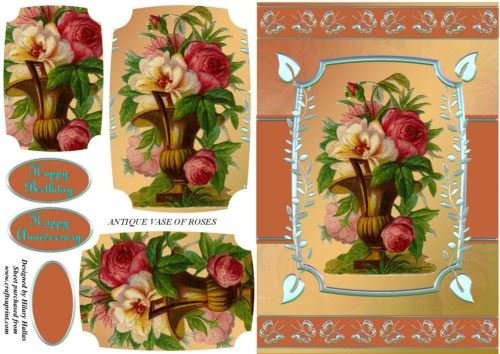 antico vaso di rose by Hilary