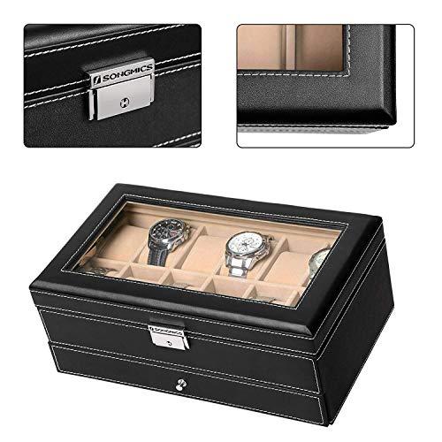 Songmics Uhrenbox  für 12 Uhren - 4