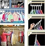 Zooarts 16 tragbare platzsparende Kleiderbügel/Schrank-Organizer zum Aufhängen, 2er-Packung