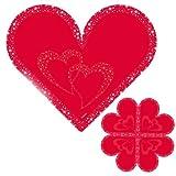 Folat Servietten Herz, rot, 33 cm