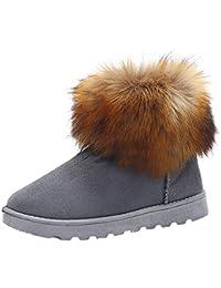 OSYARD Chaussures Neige Femme Matelassé Coton Bowknot Chaud Bottines Plates Chaussures Neige Femmes Bottes Automne Hiver Chaussures Mode