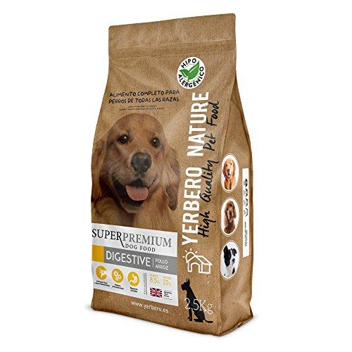 YERBERO Nature Digestive Pollo y Arroz Comida hipoalergenica para Perros 2.5 kg.