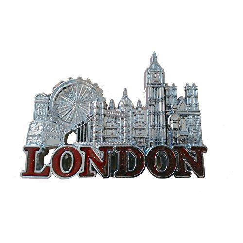 n Skyline Magnet Metall Tower Bridge, Big Ben, Bus, London Eye, Souvenir ()