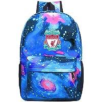 XKYZTKB Liver-pool Travel Laptop Backpack Galaxy Pattern School Bag Blue