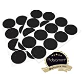 Adsamm®   24 x Filzgleiter   Ø 60 mm   Schwarz   rund   3.5 mm starke selbstklebende Filz-Möbelgleiter in Top-Qualität von Adsamm®