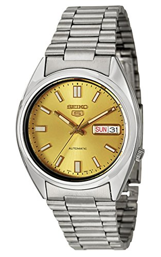 Seiko Herren-Armbanduhr 5 Gent Analog Automatik Edelstahl SNXS81