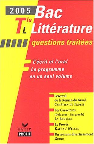 Bac littérature Tle L par Béatrice Périgot, Etienne Gomez, Evelyne Lantonnet, Brigitte Wagneur