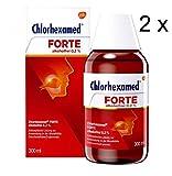 Chlorhexamed Forte 2x300 ml alkoholfrei 0,2%. Antiseptisch zur Anwendung in der Mundhöhle.