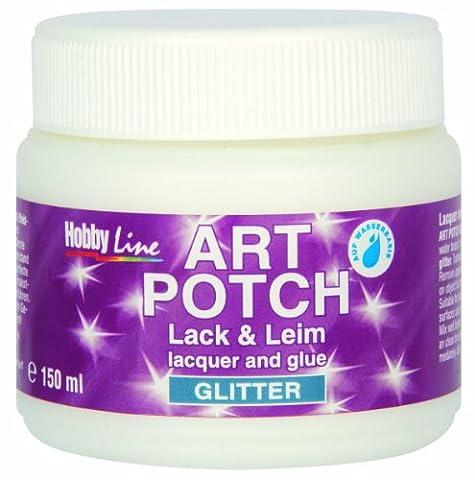 Kreul 49571 - Art Potch Lack und Leim, Glitter Gold 150 ml