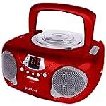 Groov-e GVPS713RD Boombox Portable CD...