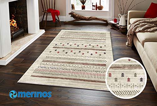 Merinos - Alfombra étnica de diseño rectangular