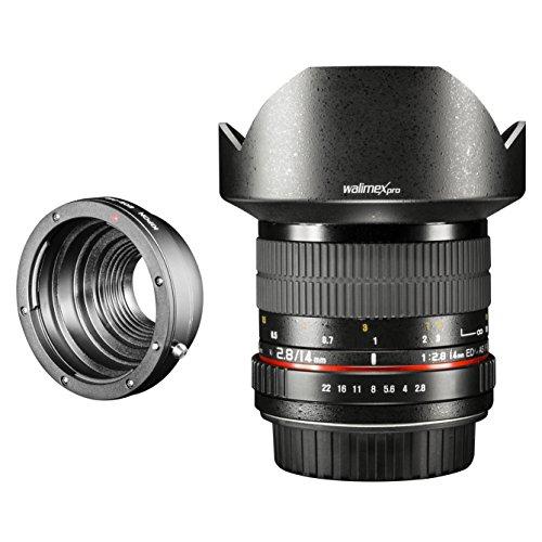 Walimex Pro 14 mm 1:2,8 CSC-Weitwinkelobjektiv für Pentax Q Objektivbajonett schwarz
