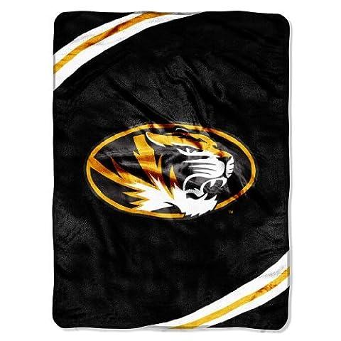 NCAA Missouri Tigers Force Royal Plush Raschel Throw Blanket, 60x80-Inch by Northwest