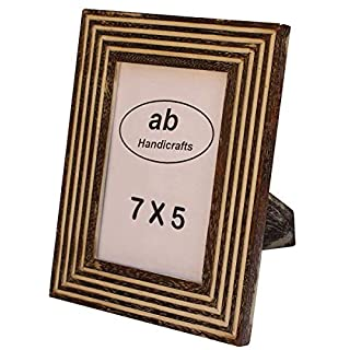 AB HANDICRAFTS Picture Frame (Brown)