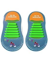 Sconosciuto Lacci Elastici in Silicone per Scarpe da Ginnastica Sneaker Sportivi (COLORATO+ Bianco+Nero) K6T0K1Yh4V