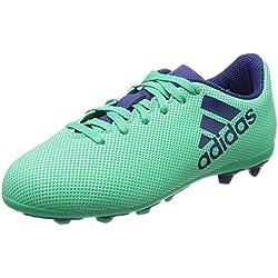 Adidas X 17.4 FxG J, Botas de fútbol Unisex Adulto, Azul (Aerver/Tinuni / Vealre 000), 38 2/3 EU