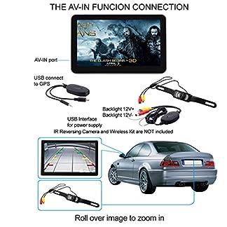 7-Zoll-GPS-Navigationsgert-Mit-Drahtlose-Rckfahrkamera-Fr-PKW-Blitzer-Kostenlos-Map-Update-INKLUSIV-Bluetooth-AV-INEingang-fr-Rckfahrkamera-oder-andere-AV-Gerte-GRATIS-SONNENSCHUTZ-Sofort-Lieferbar-au