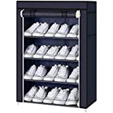 Parasnath Heavy Shoe 4-5 layer Cloth Cabinet , Shoe Rack Organiser, Colour - Random Colour ( 20 Year Warranty *MADE IN INDIA)