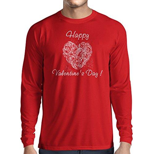 """T-Shirt mit langen Ärmeln SCHÖNEN VALENTINSTAG - """"Ich liebe dich"""" Zitate und Sprüche Rot Mehrfarben"""