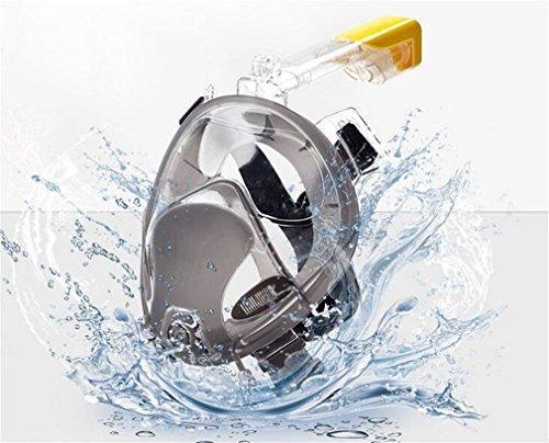 LOVEPET Masque De Plongée Masque Respirant 180 ° Vue Panoramique HD Masque De Plongée Masculine Adultes Et Jeunes HD,L