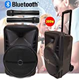 "Portable PA Speaker System, Bluetooth, 300W 12"" Active Powered (V180) Rechargeable, USB, MP3"