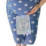 YOUJIAA Umstandsleggings für Damen, Bequem Sternenmuster Umstands- Leggings Strumpfhosen Leggins (Blau, CN 2XL)