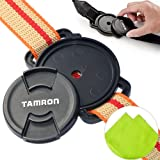 First2savvv JT0102 Universal 52mm /58mm / 67mm Camera Lens Cap Holder Buckle for Canon Nikon Sony Panasonic Fujifilm Olympus Pentax Sigma DSLR/SLR with LENS Cleaning Cloth