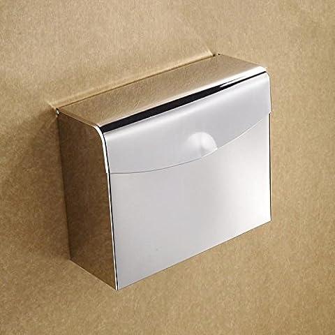YUPD@In acciaio inox quadrato parete montato toilet paper holder