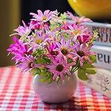Unechte Blumen,Künstliche Deko Blumen Gefälschte Blumen Seidenrosen Plastik Dahlie Braut Hochzeitsblumenstrauß für Haus Garten Party (Bunt,15cm) , 26