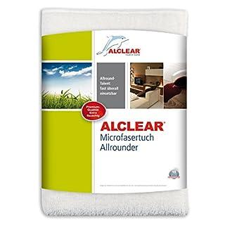 ALCLEAR 950007 Ultra-Microfasertuch Allrounder Mini für beinahe alle Oberflächen, Hohe Reinigungskraft, 32 x 32 cm, weiß